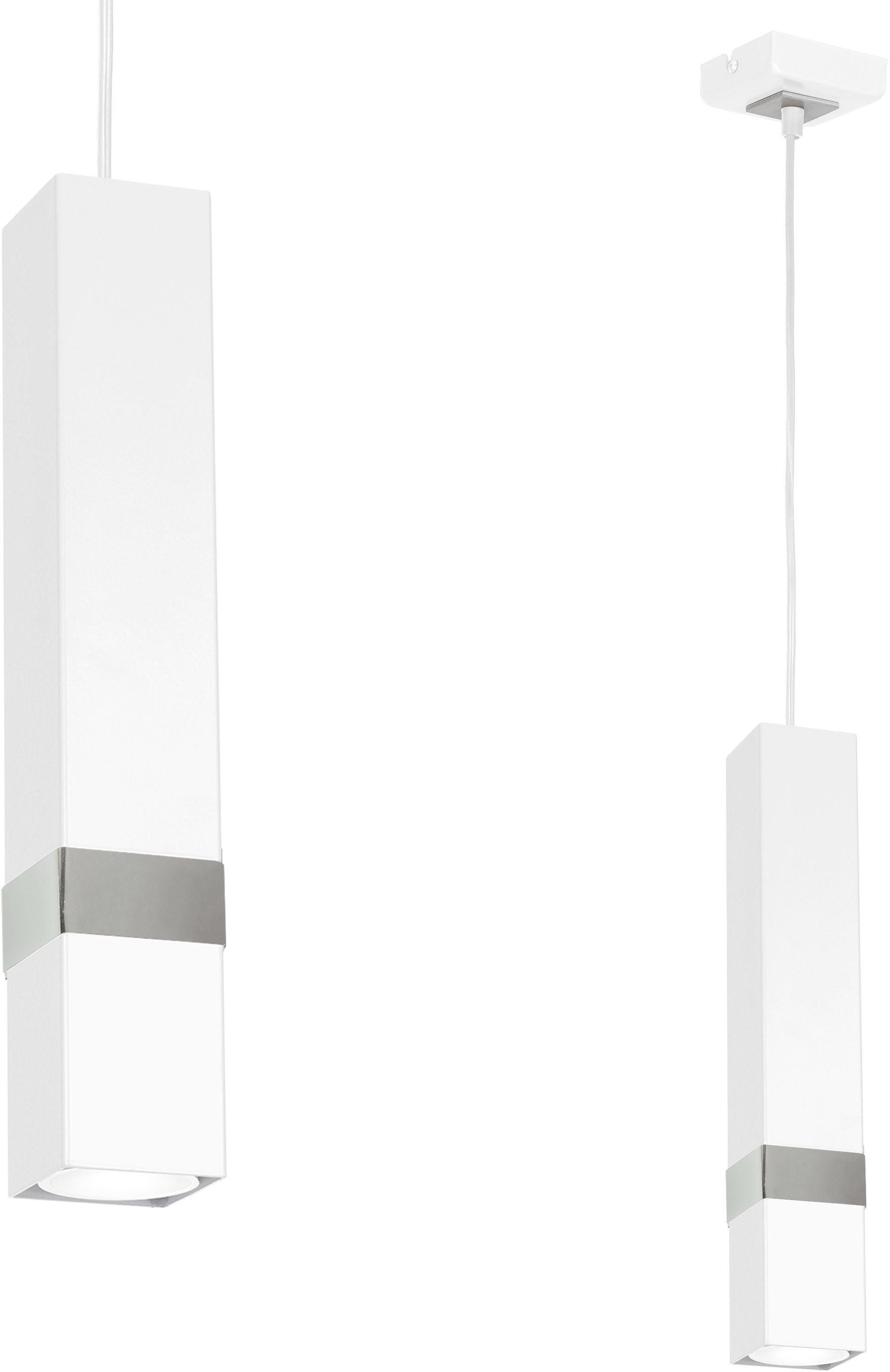Milagro Vidar MLP6283 metalowy klosz biały chrom nowoczesna 1xGU10 6cm