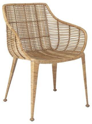 Naturalny fotel rattanowy Lounge