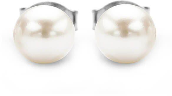 Srebrne kolczyki - Naturalne Perły hodowlane słodkowodne