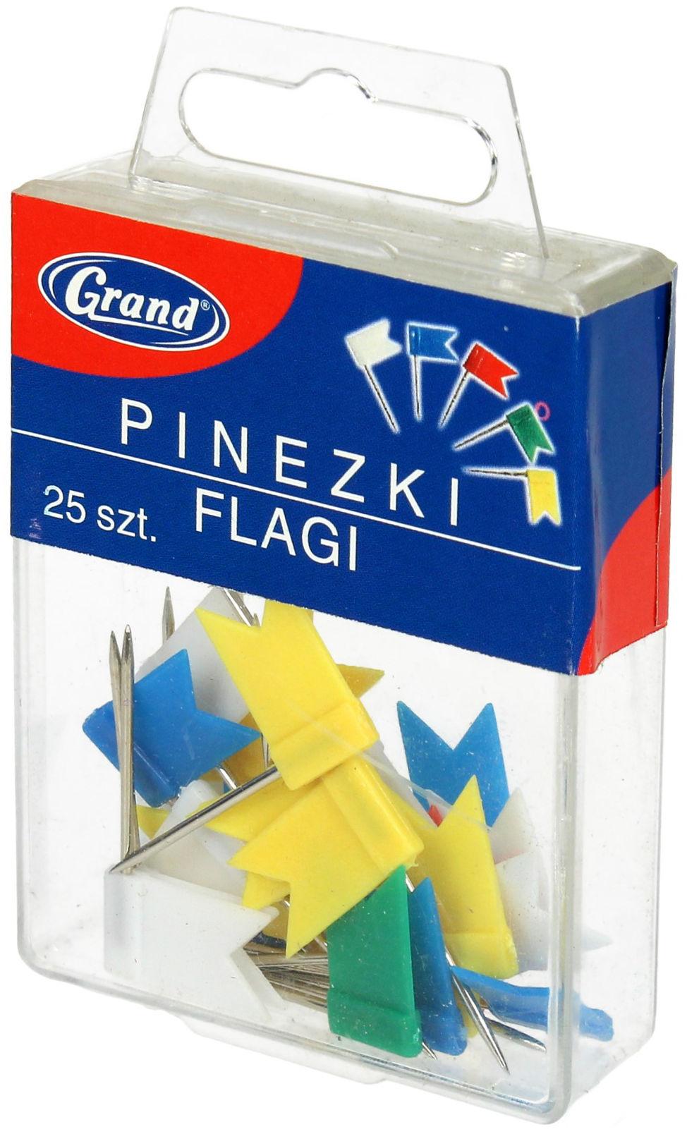 Pinezki flaga 25szt. Grand