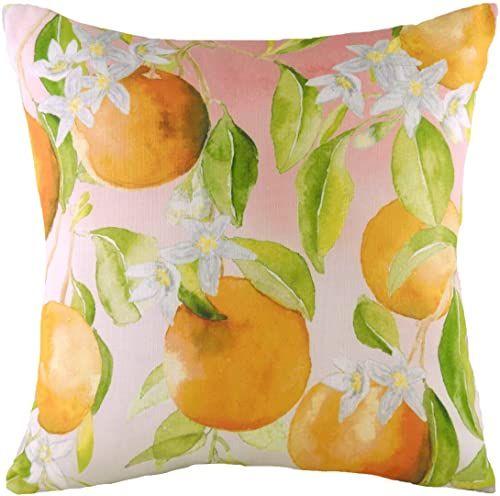 Evans Lichfield Owoce Pomarańczowe Poduszka wypełniona poliestrową, Multi, 43 x 43 cm