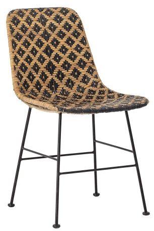 Krzesło rattanowe z wrzozystym siedziskiem