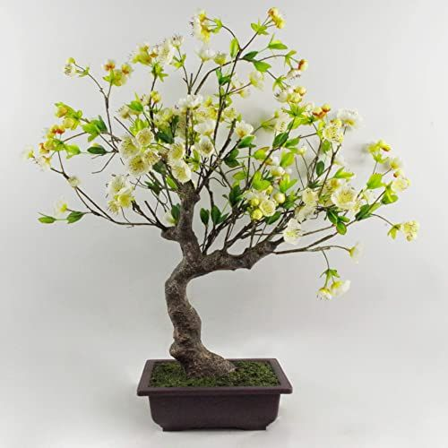 Leaf 60 cm sztuczny biały kwiat drzewo bonsai