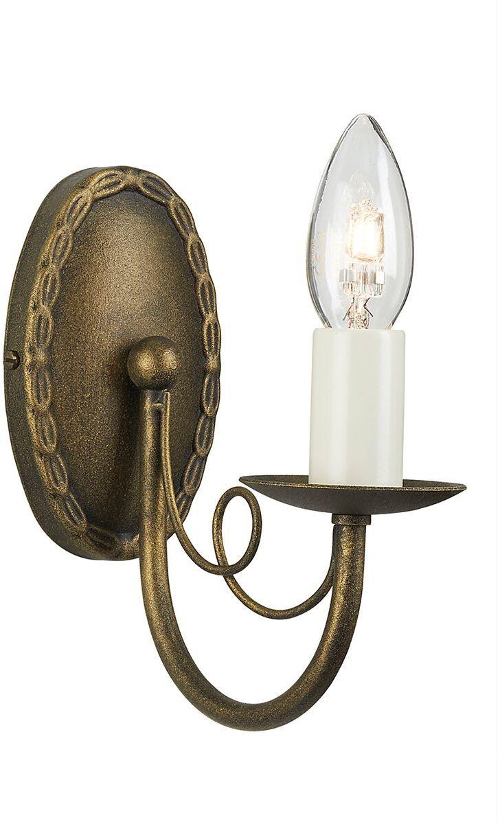 Kinkiet Minster MN1 BLK/GLD Elstead Lighting pojedyncza oprawa ścienna w klasycznym stylu