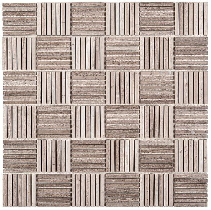 DUNIN Woodstone mozaika kamienna Woodstone Grey Tatami 48