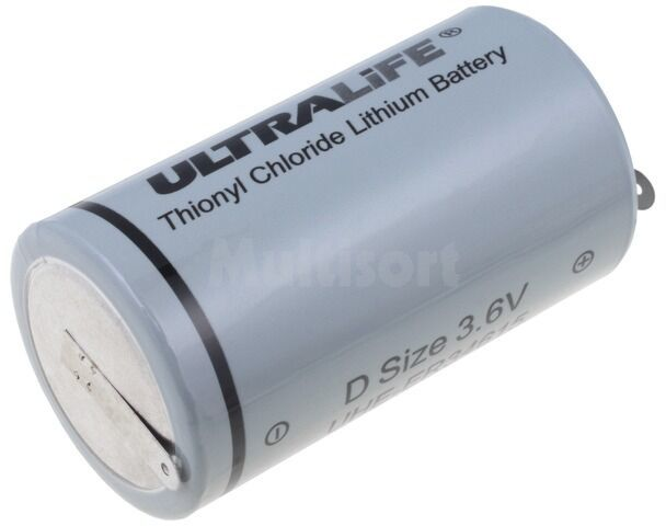 Bateria litowa 3,6V ULTRALIFE D blaszki lutownicze 19000mAh