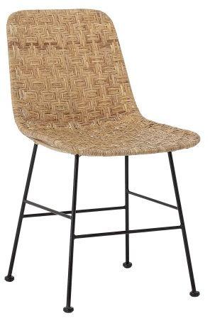 Krzesło rattanowe z wrzozystym siedziskiem Naturalne