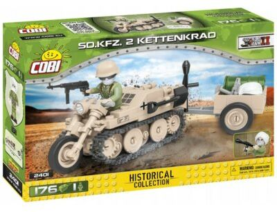 Klocki COBI Historical Collection: World War II - Sd.Kfz. 2 Kettenkrad 2401