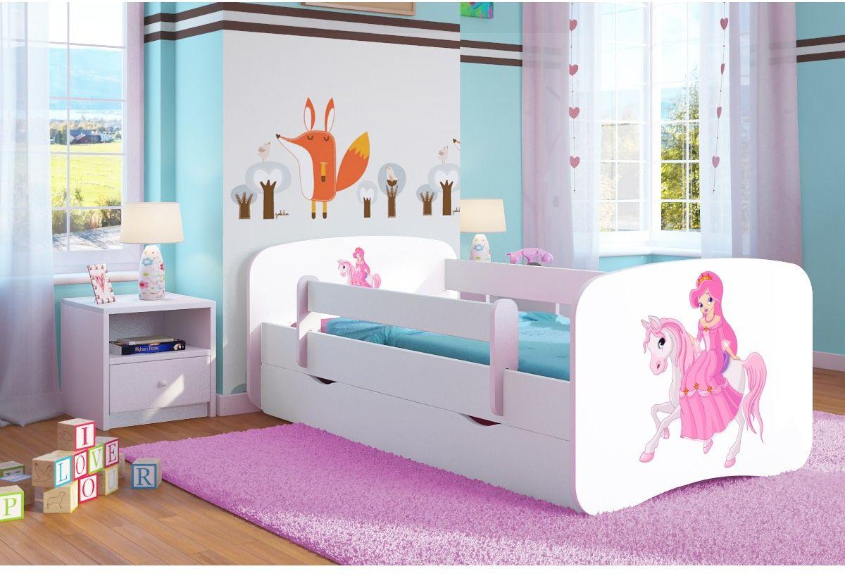 Łóżko dziecięce BABY DREAMS księżniczka na koniu 140x70