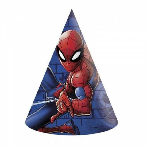 Czapeczki papierowe Spider-Man, 6 szt.