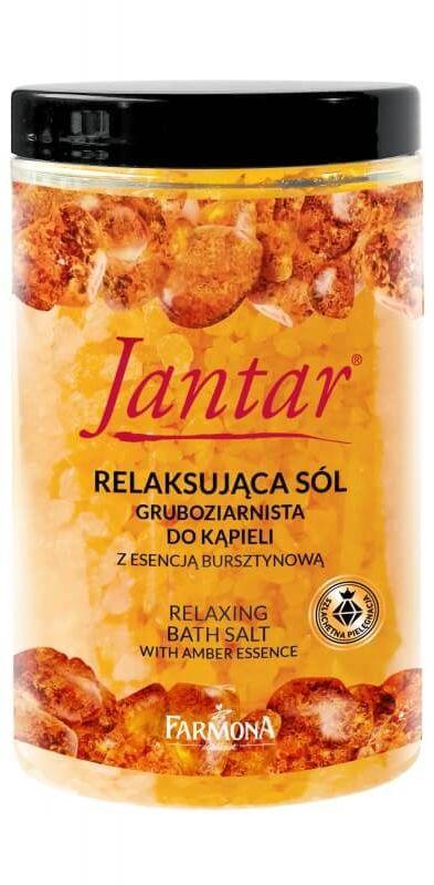 JANTAR Relaksująca sól do kąpieli z esencją bursztynową, 500g
