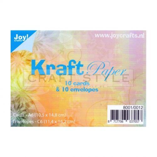 Koperty C6 KRAFT 11,4x16,2cm (10szt)