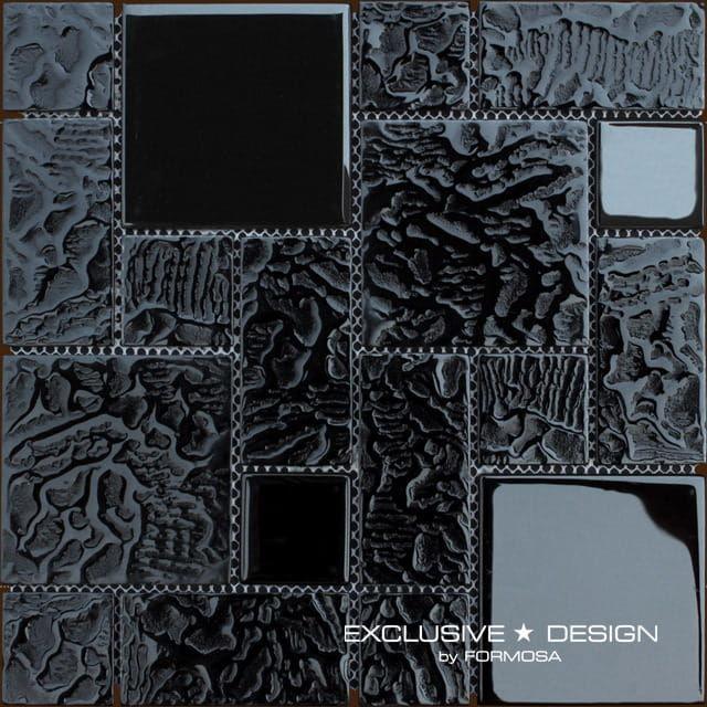 MIDAS - Mozaika szklana 6mm A-MGL06-XX-005 czarna