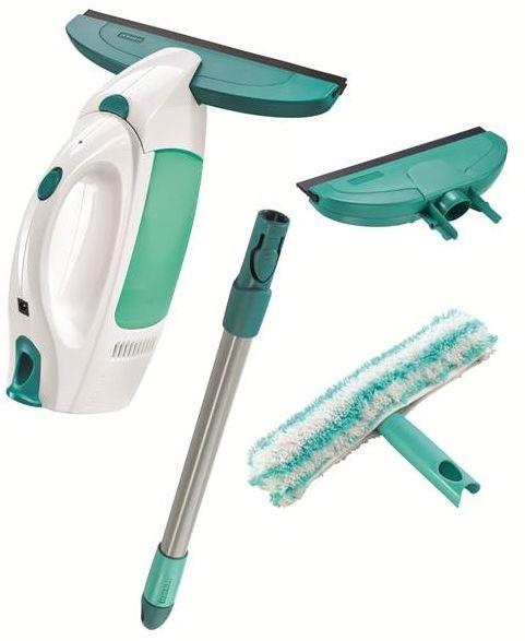 LEIFHEIT Zestaw: odkurzacz do szyb Dry & Clean z rączką i dwustronnym mopem do szyb oraz z węższą głowicą ssącą - CLICK System LEIFHEIT 51016