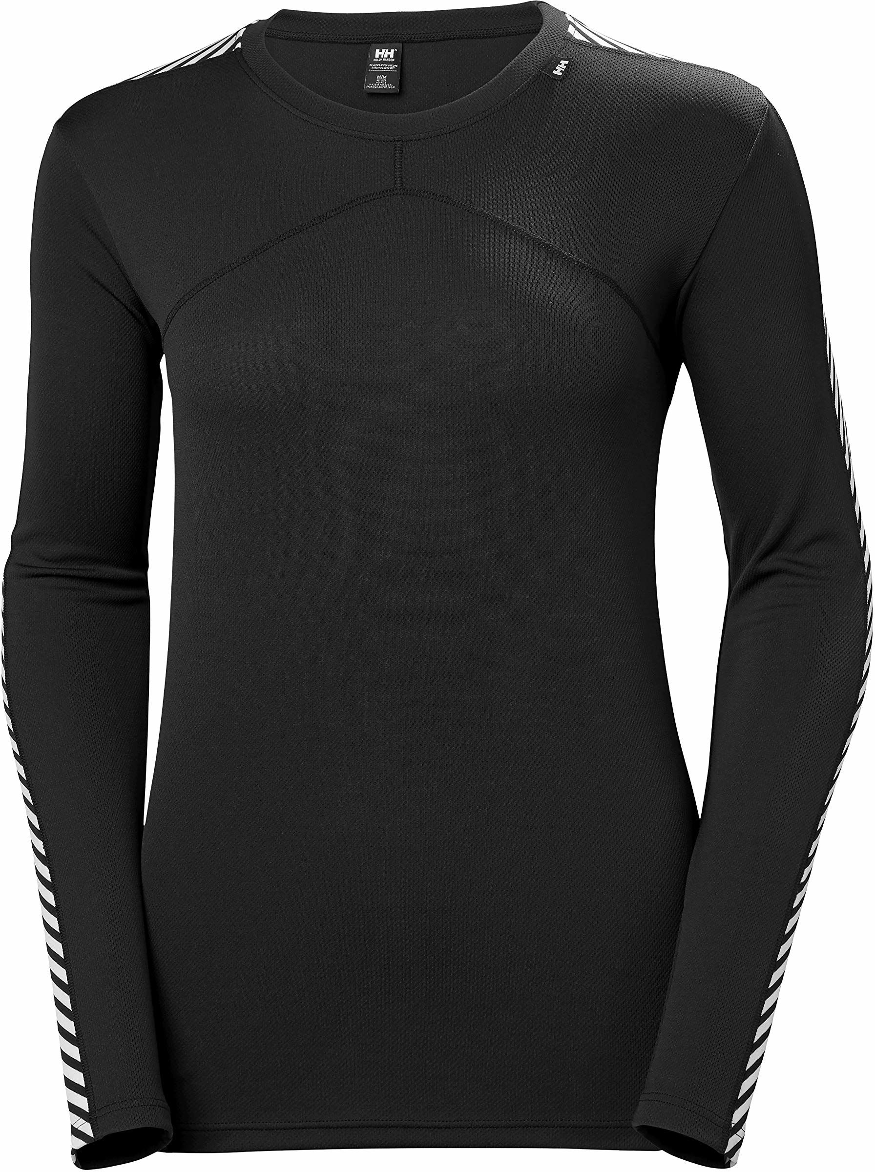 Helly Hansen W HH LIFA CREW koszulka funkcyjna  termoaktywna bielizna sportowa do biegania, czarna (czarna), L