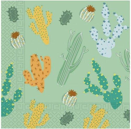 Serwetki papierowe Kaktusy, Meksykańskie Party, 20 szt.