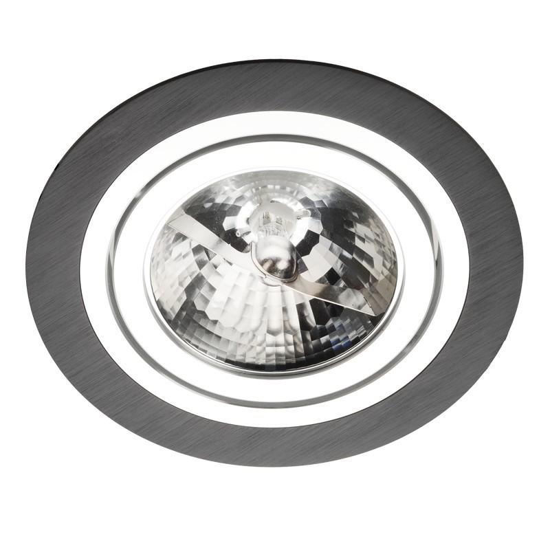 Oprawa podtynkowa Alcazar 140.BC oczko ES111 okrągłe czarne i chrom - Lumifall Do -17% rabatu w koszyku i darmowa dostawa od 299zł !