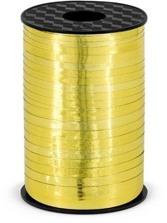 Wstążka plastikowa metalizowana do balonów złota 5mm 225m PRM5-019