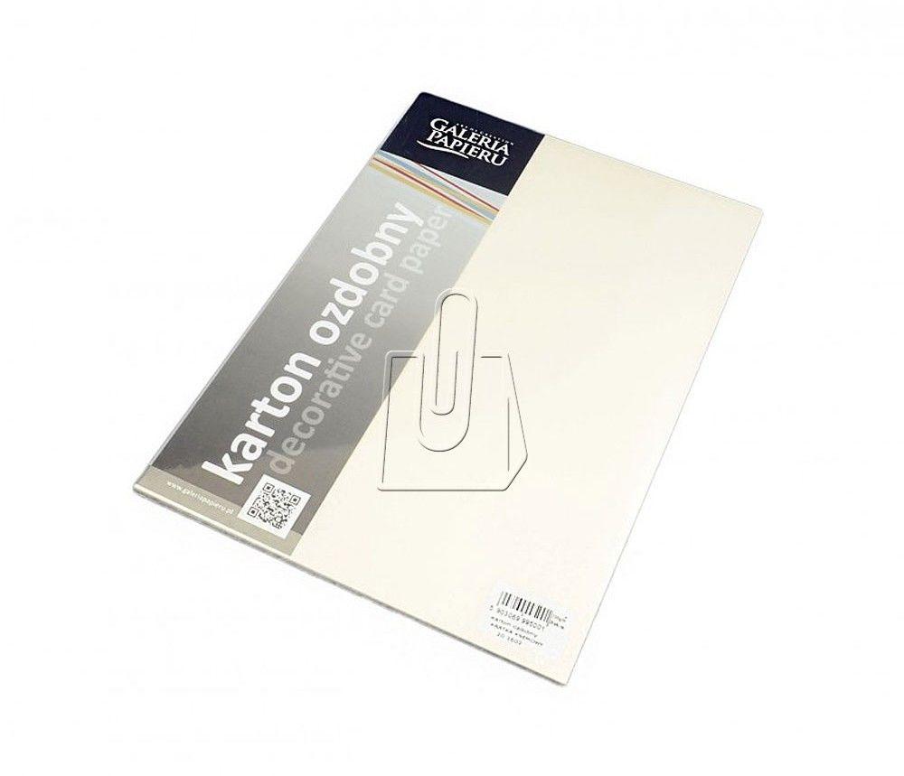 Karton ozdobny KRATKA KREMOWY 230 g/m2 opakowanie 20 arkuszy A4