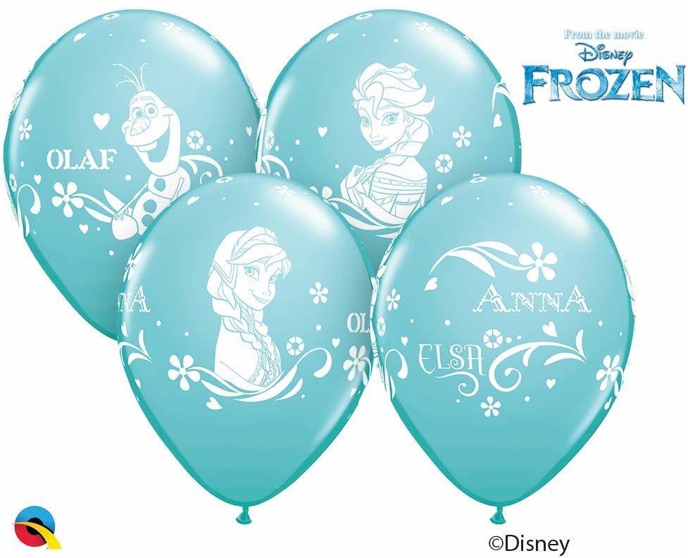 Qualatex 19226 Disney Frozen Balony, Karaibski niebieski, 30,5 cm