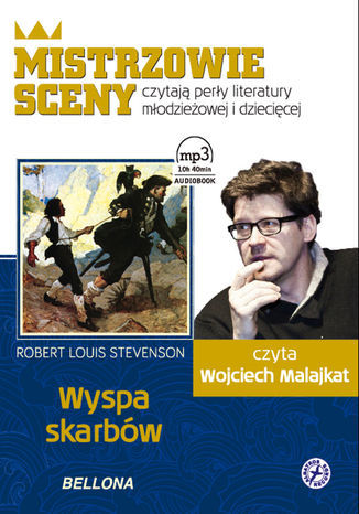 Wyspa skarbów. Książka audio, czyta Wojciech Malajkat - Audiobook.