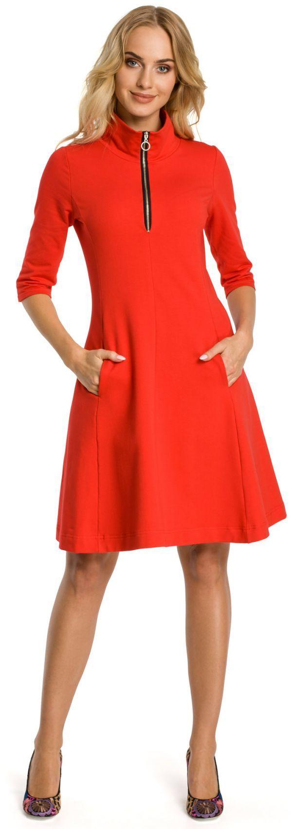 M349 Sukienka czerwona
