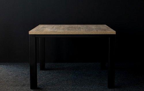 Nowoczesny industrialny stół loft QUADRO 110/110 - Dąb Brunico