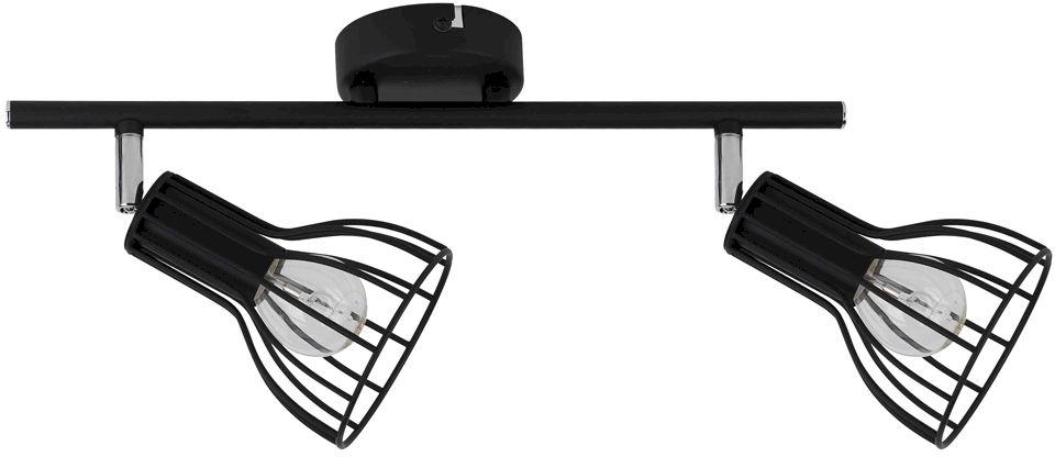 Spot Light 2743204 Megan oprawa stropowa spot metal czarny klosz koszyk 2xE14 40W IP20 37,5cm