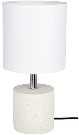 Lampa stołowa STRONG 1-punktowa lampa o białej betonowej podstawie z abażurem z białego materiału 6091937