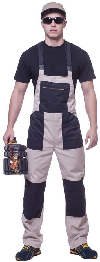 Spodnie robocze ogrodniczki DWUKOL