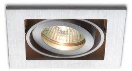Lampa do zabudowania K/G FIZZ I kierunkowa aluminium szczotkowane 12V GU 5,3 50W R10146 - RedLux - Autoryzowany dystrybutor REDLUX
