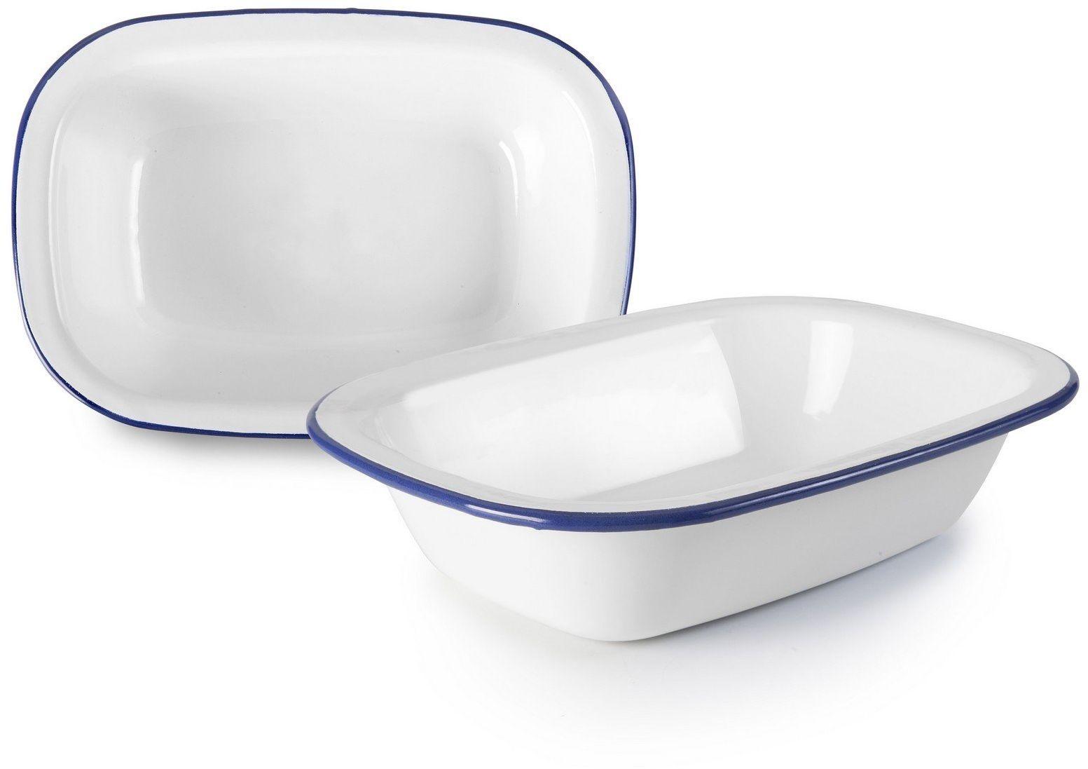 Ibili prostokątny głęboki talerz Blanca 27 cm, porcelana, biały, jeden rozmiar