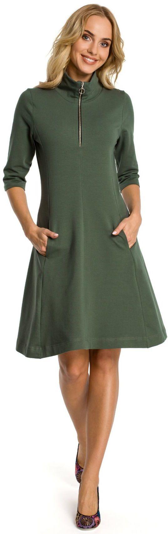 M349 Sukienka khaki
