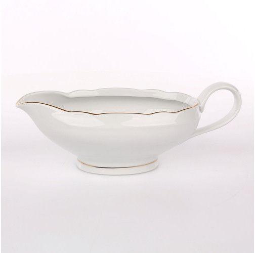 Sosjerka porcelanowa Ćmielów Feston Złoty Pasek (3604) 450 ml
