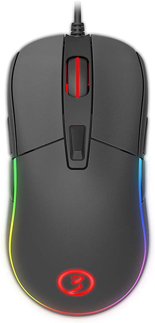 Mysz dla graczy Ozone NEON X40 - mysz dla konkurencyjnych graczy - czujnik optyczny PMW 3330, oświetlenie RGB, DPI 7200, konfigurowalne oprogramowanie, kolor czarny