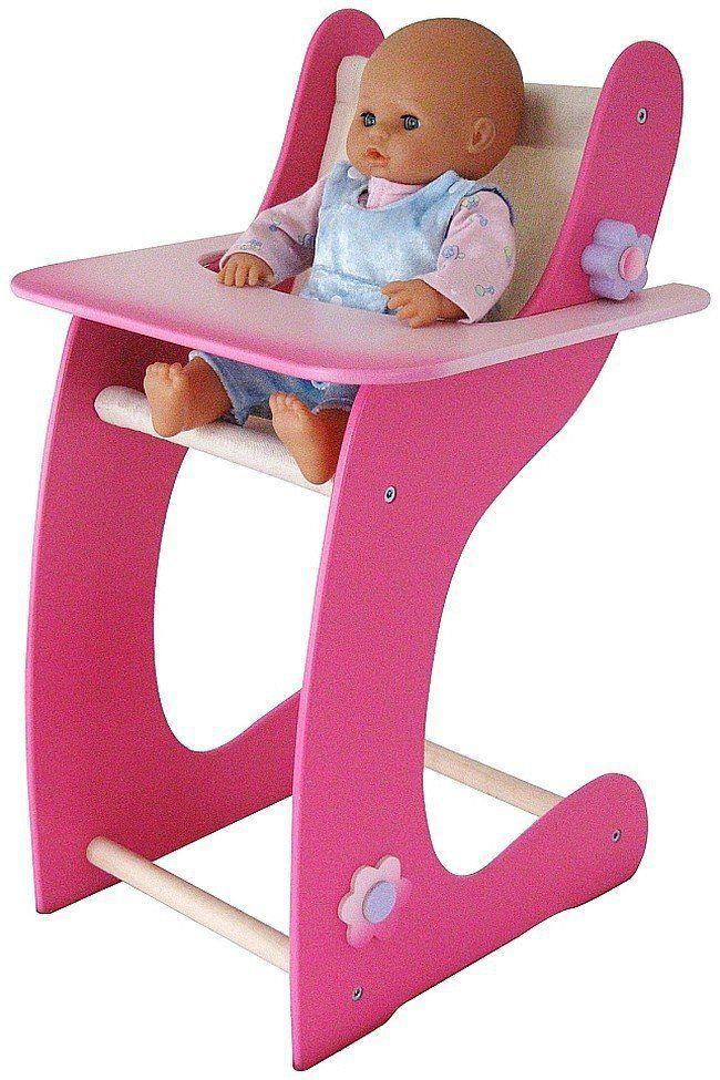 """Krzesełko dla lalki """"Niebieska stokrotka"""", Kłosek - meble dla lalek"""