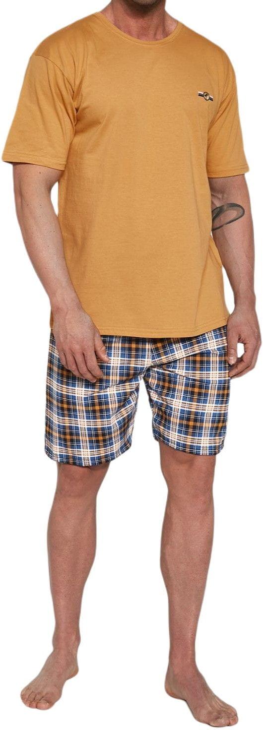 Bawełniana piżama męska Cornette 326/111 Mark pomarańczowa
