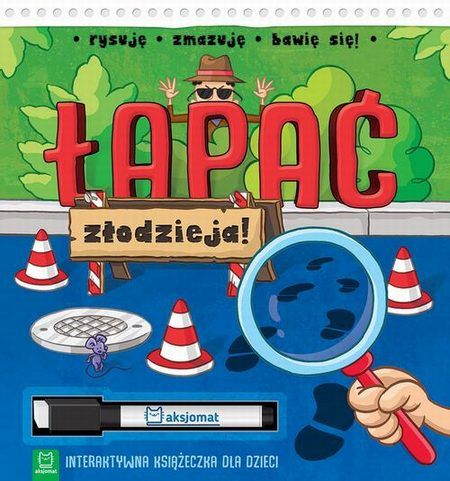 Łapać złodzieja Interaktywna książeczka dla dzieci