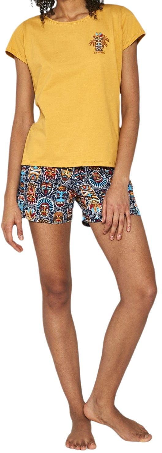 Bawełniana piżama damska Cornette 628/189 Ethnic 2 miodowa