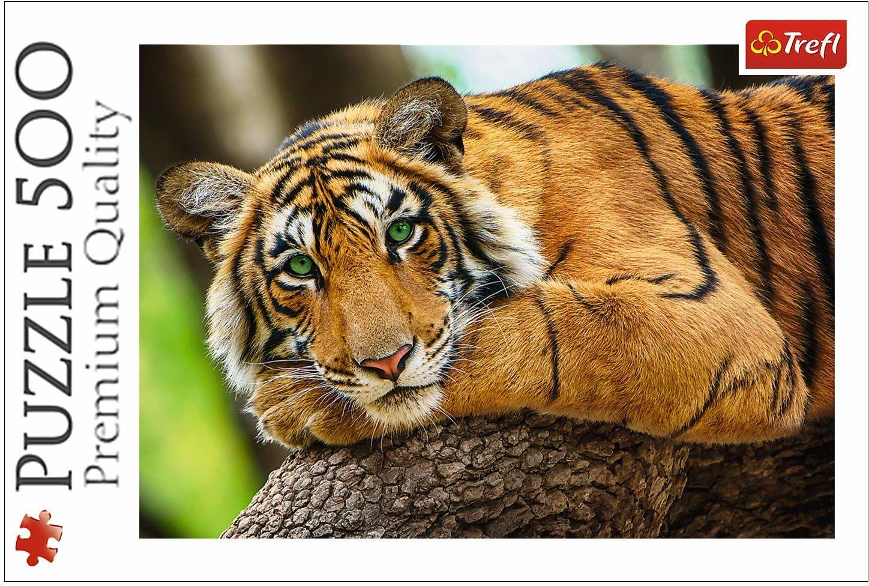 Trefl Portret Tygrysa Puzzle 500 Elementów o Wysokiej Jakości Nadruku dla Dorosłych i Dzieci od 10 lat