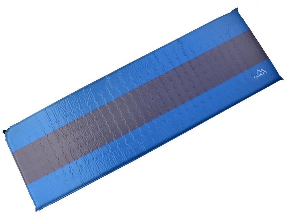 Karimata samopompująca 195x60x5cm niebiesko-szary