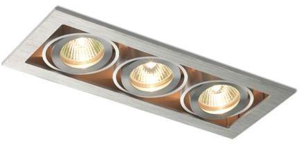 Lampa do zabudowania K/G FIZZ kierunkowa aluminium szczotkowane 12V G5,3 3x50W R10148 - RedLux - Autoryzowany dystrybutor REDLUX