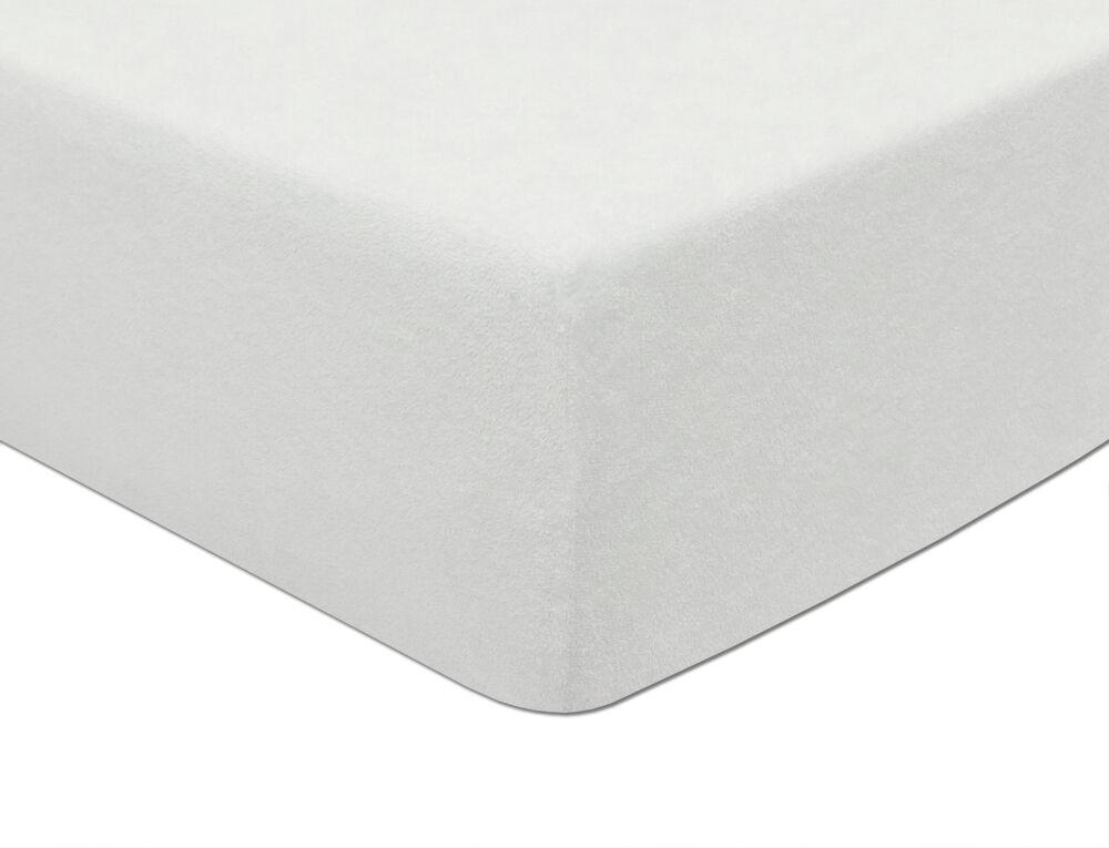 Prześcieradło frotte z gumką 60x120 001 białe Darymex