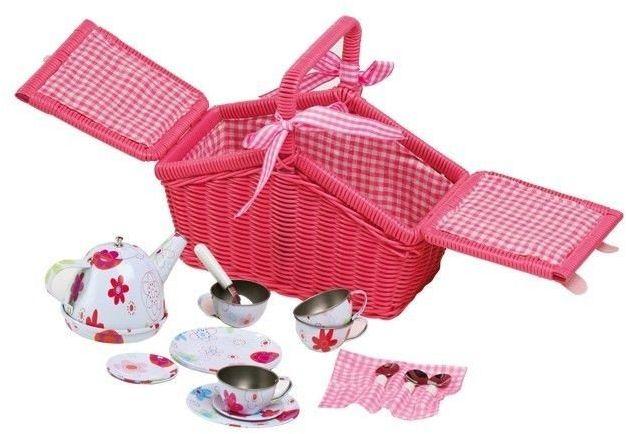 Koszyk na piknik, Kwiatuszek, small foot - zabawki dla dziewczynek