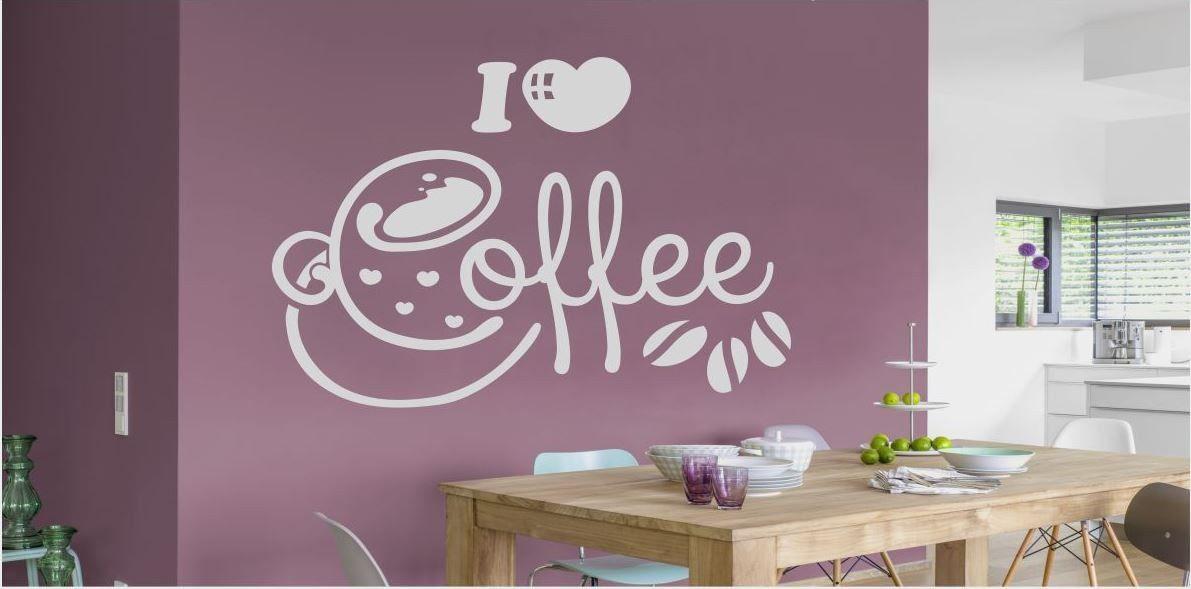 Fantazyjny napis I love coffe