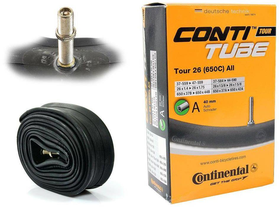 """Dętka Continental Tour 26'' oraz 27,5"""" x 1,4'' - 1,75'' wentyl auto 40 mm"""