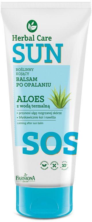 Herbal Care Sun SOS Roślinny kojący balsam myjący po opalaniu ALOES z wodą termalną 200ml