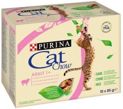 Purina Cat Chow Jagnięcina i zielona fasolka saszetki 10x85g