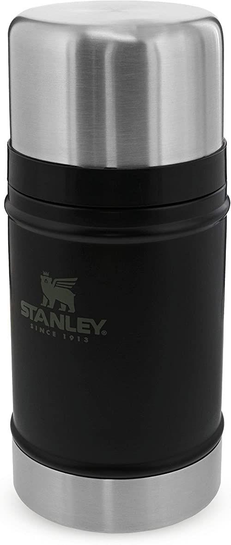 Stanley Classic Legendary Food Jar 0.7L / 24OZ Matte Black  Termos do żywności ze Stali Nierdzewnej BEZ BPA - Utrzymuje ciepło przez 15 godzin - Do Mycia w Zmywarce