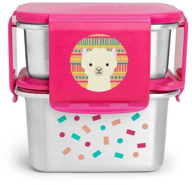 Skip Hop - Stalowe pudełko śniadaniowe Lama